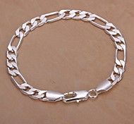 1pc - Bracelet - Chaînes & Bracelets  - en Plaqué argent - pour Mariage/Soirée/Quotidien/Casual