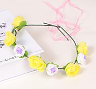 Bright Foam/Plastic Wreaths With Wedding/Party Headpiece