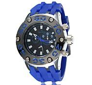 grande orologio al quarzo quadrante uomini (colori assortiti)