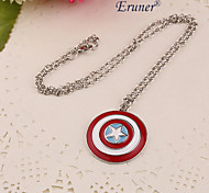 Eruner®2015 Hot New Popular Unique Personalized Unisex All-Match Round Shield Pendant Necklace Long Chain Wholesale
