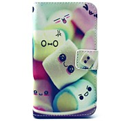 Towel Cake Candy Pattern PU Leather Full Body Case with Stand and Card Holder for Samsung Galaxy Core Prime G360 G3608