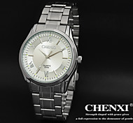 CHENXI® Men's Classic Design Dress Watch Japanese Quartz Water Resistant Silver Steel Strap