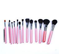 New 15Pcs Pink Professional Makeup Brush Set  Fundation Powder Eyeshadow Eyeliner Makeup Brush Kits