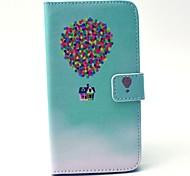 EFORCASE Balloon House Painted PU Phone Case for Galaxy S6 edge S6 S5 S4 S3 S5 mini S4 mini S3 mini