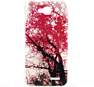 Pink Tree Pattern Relief TPU Soft Back Cover for LG L90
