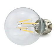 LED Filament Energy-Saving Light E27 4W 360LM 4 Pcs Epistar COB Warm White Bubble Ball Bulb 110V-220V