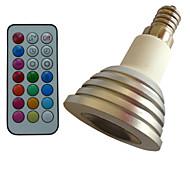 1 pcs SchöneColors E14 4W Color-Changing/Dimmable/21Keys Remote-Controlled/Decorative RGB Spot Lights AC85-265V