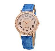 cinta nova moda feminina couro brilhante relógios estudantes adorável assistir desenhos animados senhoras dígitos pulso de quartzo relógio