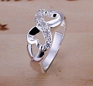 Diamond 8 words 925 Silver Statement Rings (1pc)