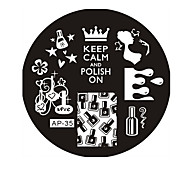 Nail Art Stamp Stamping Image Template Plate AP Series NO.35