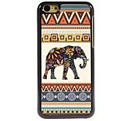 Colorful Elephant Design Aluminum Hard Case for iPhone 5C