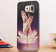 3D Back Case for Samsung Galaxy S6 Jewel Covered Cases Diamond Shine Case Pretty Finger