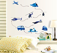 Cartoon Planes Flying PVC Wall Stickers Wall Art Decals