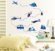 Autocollant Mural - Bleu - Nouveauté  - en Plastique