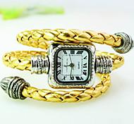 nouvelle montre bracelet explosion de serpentine bracelet à quartz de mode de ceinture de cadran carré des femmes (couleurs assorties)