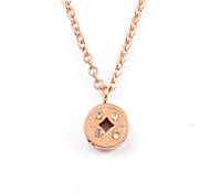 Vintage Chinese Coins 316L Stainless Steel 14K Gold Plated Pendant Necklace