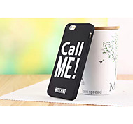 Silicone Material Couples with English Letters Call Me Style for iPhone 6 (Assorted Colors)