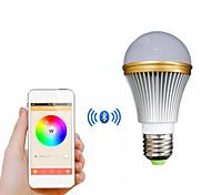 e27 coloré bluetooth de lumière intelligente ampoule conduit 5W pour IOS / Android - blanc + argent (AC 85 ~ 240V)