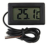 Mini termómetro nevera digitales negro lcd display4.8 * 2.85 * 1.5 cm
