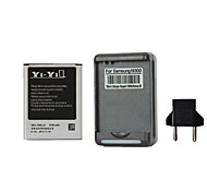 YI-YI™ Rechargeable 2100mAh Replacement Battery with US Plug Battery Charger and Eu Plug for Samsung Galaxy S3 I9300