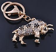 Drill Cow Key Chain Pendant