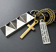 Fashion Simple Cross Alloy Pendant Necklace