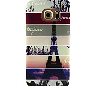 For Samsung Galaxy Case Pattern Case Back Cover Case Eiffel Tower TPU Samsung S6 edge