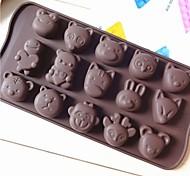 silicone di modo muffa della torta gelato al cioccolato decorazione cucina cucina utensili bakware (colore casuale)