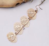 Fashion Beautiful Alloy Leaves Drop Earrings