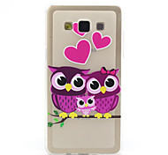 Love Owl Pattern TPU Relief Back Cover Case for Samsung Galaxy A5