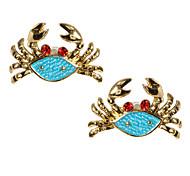 Blue Ocean Biological Crabs Earrings*1pair