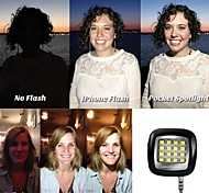 16LED Mini Portable Powerful Night Using Selfie Enhancing Flash LED Light for ios/Android/WP8.0/Selfie/Camera