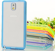 GYM Luxury Clear TPU Frame Acrylic Back Case for Samsung Galaxy Note 4(Assorted Color)
