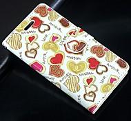 Для Кейс для Huawei Кошелек / Бумажник для карт / со стендом Кейс для Чехол Кейс для С сердцем Твердый Искусственная кожа HuaweiHuawei P7