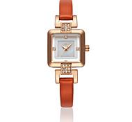 italy hea® strass checo pulseira de couro forma japonês movimento de quartzo moda feminina 1935