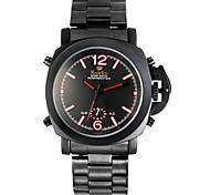 Orologio sportivo - Per uomo - Quarzo - Analogico-digitale - LED/Calendario/Cronografo/Resistente all'acqua/Due fusi orari/allarme