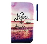 4.6 Inch Dreaming Pattern PU Wallet Leather Case and Pen for Sony Xperia Z3 mini