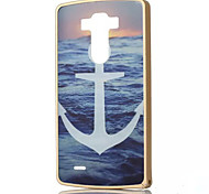 Sea and Anchor Pattern Gold Metal Frame Plastic Back Cover Hard Case for LG G3