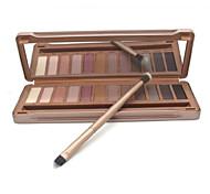 12 colores mate pliegue ahumado colores terrosos suaves cosméticos del maquillaje sombra de ojos paleta con caja de lata (modelo 3)