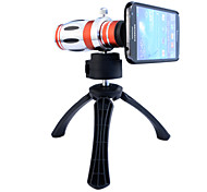 Telescope 12.5X Zoom Telephoto Manual Focus Long Focal Camera Lens with Back Case and Tripod for Samsung Galaxy S4 I9500