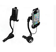 Car Cigarette Lighter Mounted Phone Holder Dual Female USB Output & Extension Cigarette Lighter