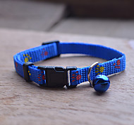 Super Cute Cat Adjustable Collars With Bells / Mini Dog Collar (Blue)