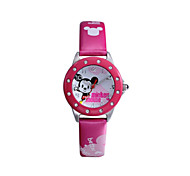Hot sell famous brand Disney  genuine leather band  fashion cartoon children quartz wacthes DC-54045
