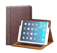 Acase Compatible Genuine Leather Folio Cases with Stand for iPad Air2(Brown)