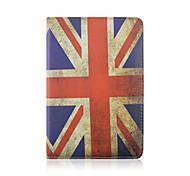 7,9 Zoll 360 Grad-Drehung Flagge Muster pu Ledertasche mit Ständer und Feder für ipad mini 1/2/3