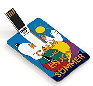 16gb mantenha a calma e desfrutar de USB flash drive cartão de design do verão