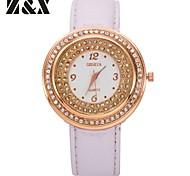 Women's Fashion Big Diamond Case Quartz Analog Leather Bracelet Watch(Assorted Colors)