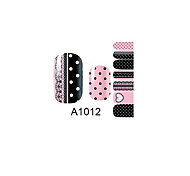 14PCS Nail Art Stickers A Series NO.1012