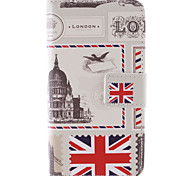 Vintage Postcard Design PU Leather Stand Case with Card Slot for Samsung Galaxy Core 4G G386F/G3518