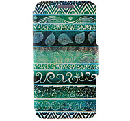 Kinston® Green Totems Pattern PU Leather Full Body Cover with Stand for Huawei P8